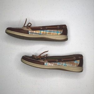 Sperry top-sider brown leather womens sz 9.5
